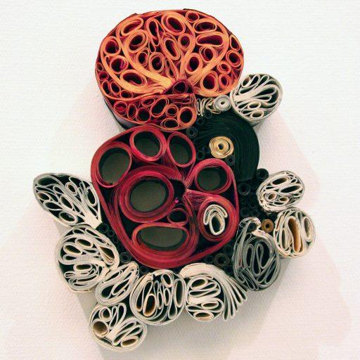 Kransar och buketter (2013), papper och tusch, 38x29 cm. ©Hillevi Berglund bildupphovsrätt (2017).