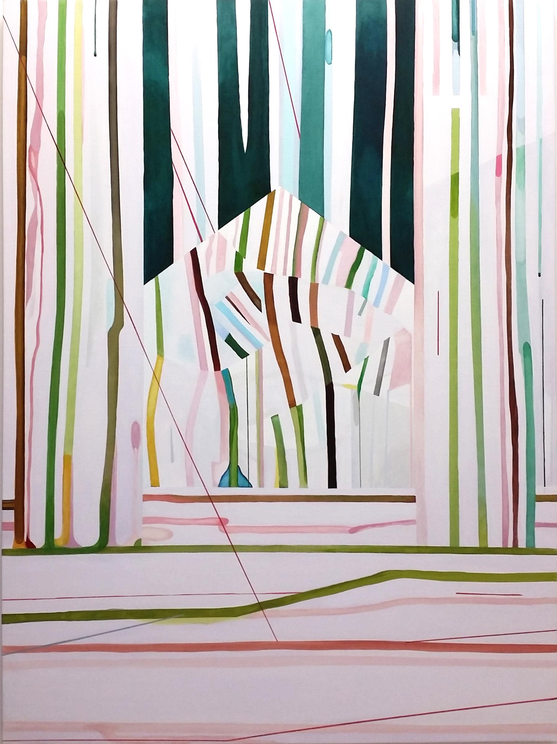 Hemvägen (2014), Vintervägen (2014), olja på duk / oil on canvas, 190x134cm. ©Hillevi Berglund bildupphovsrätt (2017).